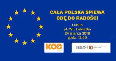 Cała Polska śpiewa Odę do radości 24.03.19