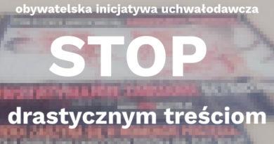 STOP drastycznym treściom